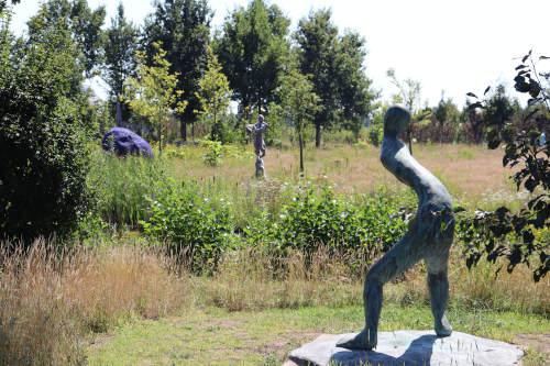 De beeldentuin van landgoed Anningahof in Zwolle